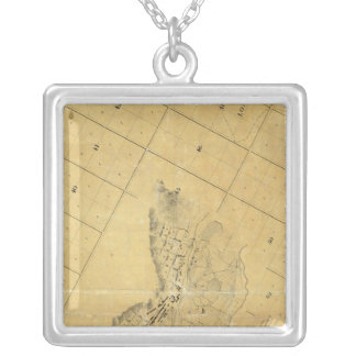 Map Of The City Of Los Angeles Silver Plated Necklace