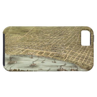 Map of the City of Memphis Tennessee (1870) iPhone SE/5/5s Case