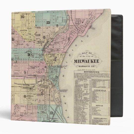 Map of the City of Milwaukee, Milwaukee Co Binder
