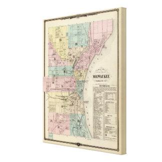 Map of the City of Milwaukee, Milwaukee Co Canvas Print