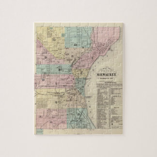 Map of the City of Milwaukee, Milwaukee Co Jigsaw Puzzle
