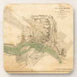 Map of the city of Richmond, Virginia (1858-1864) Drink Coaster