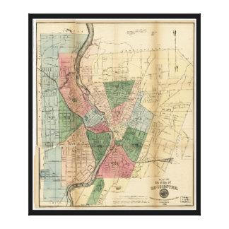Map of the City of Rochester New York (1879) Canvas Print