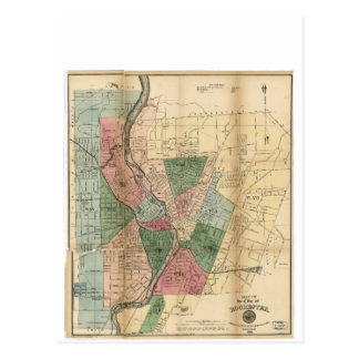 Map of the City of Rochester New York (1879) Postcard