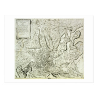 Map of the city of Rome, engraved by the artist, 1 Postcard