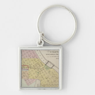 Map of the City of St. Cloud, Minnesota Keychains