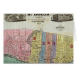 Map of The City of St. Louis Greeting Cards