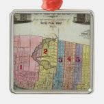 Map of The City of St. Louis Metal Ornament