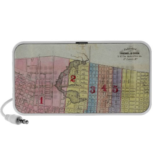 Map of The City of St. Louis Mini Speaker