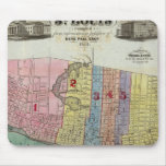 Map of The City of St. Louis Mouse Pads