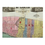 Map of The City of St. Louis Post Card