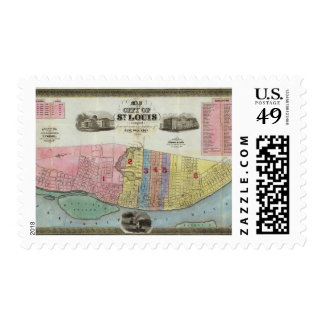 Map of The City of St. Louis Postage