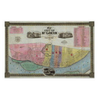 Map of The City of St. Louis Poster