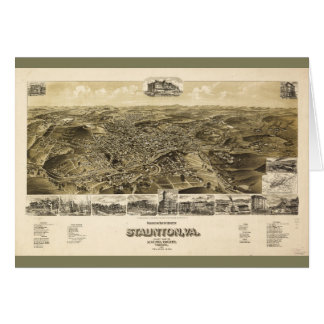 Map of the City of Staunton, Virginia (1891) Card