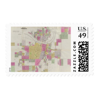Map of the City of Topeka Postage Stamp