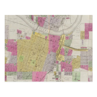 Map of the City of Topeka Postcard