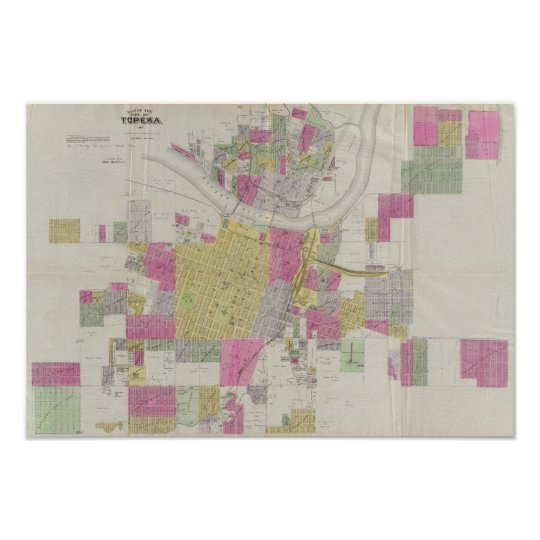 Map of the City of Topeka Poster