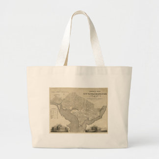 Map of the City of Washington D.C. (1820) Large Tote Bag