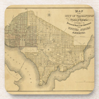 Map of the City of Washington D.C. (1839) Drink Coaster
