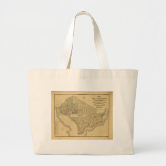 Map of the City of Washington D.C. (1839) Large Tote Bag