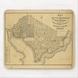 Map of the City of Washington D.C. (1839) Mouse Pad