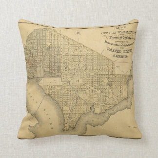 Map of the City of Washington D.C. (1839) Throw Pillow