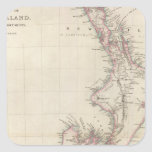 Map of the Colony of New Zealand Square Stickers