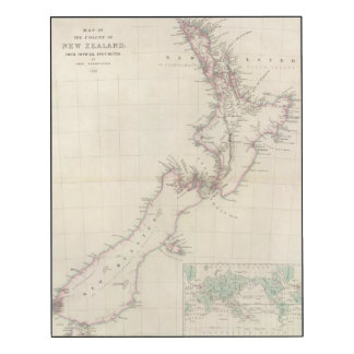 Map of the Colony of New Zealand