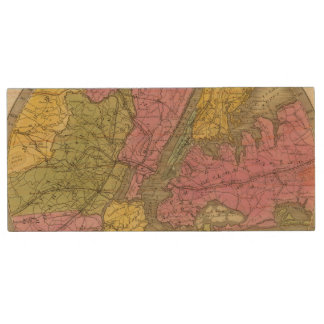 Map of the Country Wood USB 2.0 Flash Drive