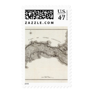 Map of the Country Of The Illinois Postage