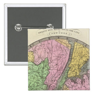 Map of the Country Pinback Button