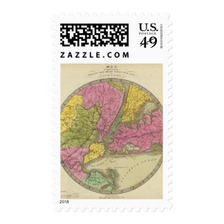 Map of the Country Stamp