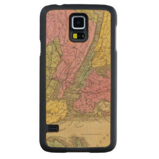 Map of the Country Carved® Maple Galaxy S5 Slim Case