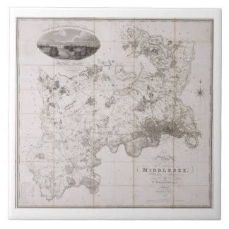 Map of the County of Middlesex, published 1819 (pr Ceramic Tile