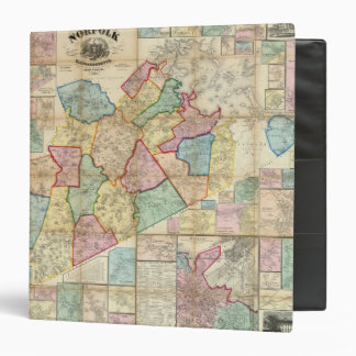 Map of the County of Norfolk, Massachusetts 3 Ring Binders