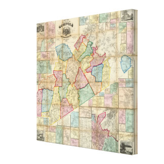 Map of the County of Norfolk, Massachusetts Canvas Print