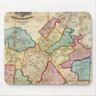Map of the County of Norfolk, Massachusetts Mouse Pad