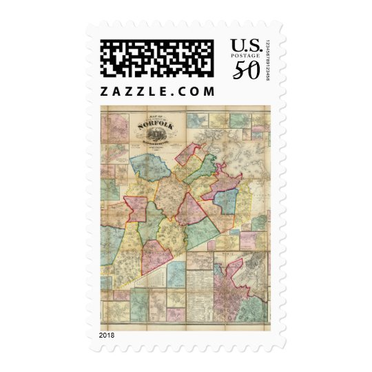 Map of the County of Norfolk, Massachusetts Postage