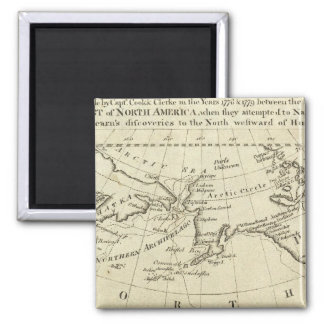 Map of the Discoveries made by Capts Cook & Clerk 2 Inch Square Magnet