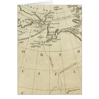 Map of the Discoveries made by Capts Cook & Clerk Greeting Card