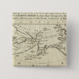 Map of the Discoveries made by Capts Cook & Clerk Pinback Button