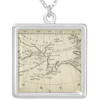 Map of the Discoveries made by Capts Cook & Clerk Square Pendant Necklace