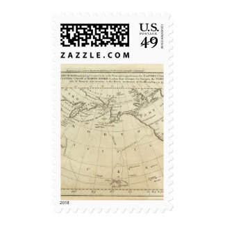 Map of the Discoveries made by Capts Cook & Clerk Stamps
