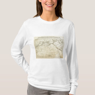 Map of the Discoveries made by Capts Cook & Clerk T-Shirt