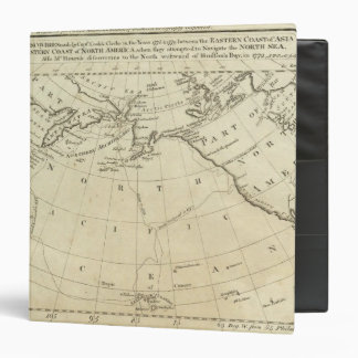 Map of the Discoveries made by Capts Cook & Clerk Vinyl Binder