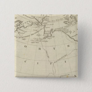 Map of the Discoveries made by Cook and Clerke 2 Pinback Button