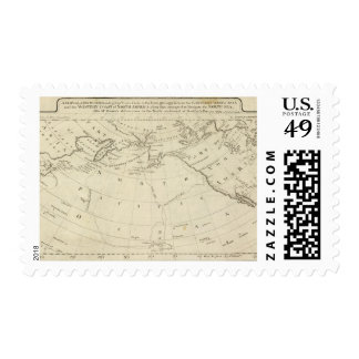 Map of the Discoveries made by Cook and Clerke 2 Postage