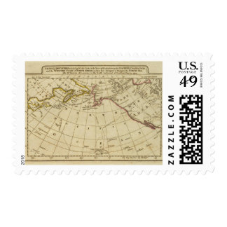 Map of the Discoveries made by Cook and Clerke Postage