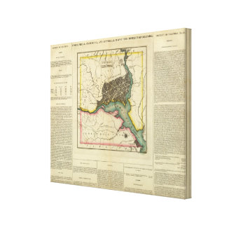 Map Of The District Of Columbia Canvas Print
