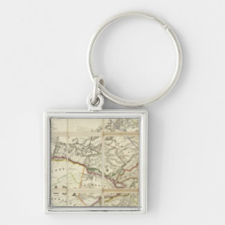 Map of the District of Montreal, Lower Canada Keychain